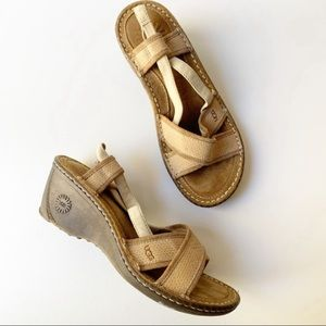 UGG Wedge Sandals Strappy Comfort Shoes